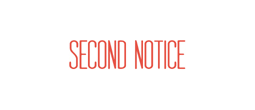 1012 - 1012 SECOND NOTICE
